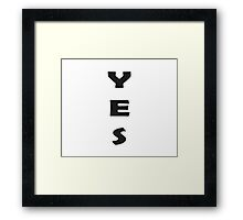 Vote YES Yeah T-Shirt Framed Print