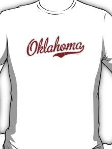 Oklahoma Script VINTAGE Garnet T-Shirt