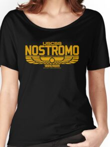 NOSTROMO ALIEN MOVIE STARSHIP (YELLOW) Women's Relaxed Fit T-Shirt