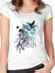 EXPECTO PATRONUM HEDWIG WATERCOLOUR 2 Women's Fitted Scoop T-Shirt