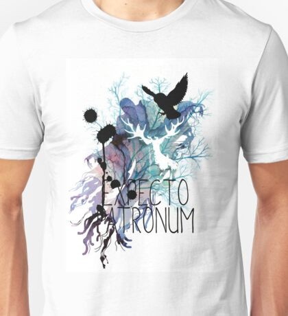 EXPECTO PATRONUM HEDWIG WATERCOLOUR 2 Unisex T-Shirt