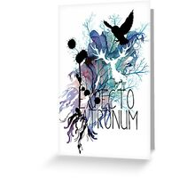 EXPECTO PATRONUM HEDWIG WATERCOLOUR 2 Greeting Card