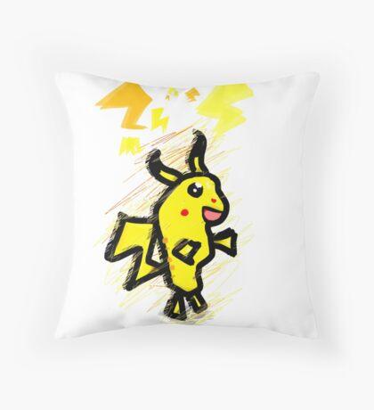pikachu dude Throw Pillow
