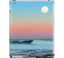 Newcastle Beach Sunset with Full Moon iPad Case/Skin