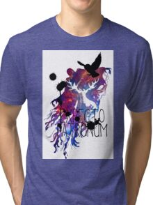 EXPECTO PATRONUM HEDWIG GALAXY Tri-blend T-Shirt