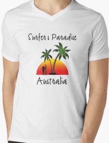 Surfer's Paradise Australia Mens V-Neck T-Shirt