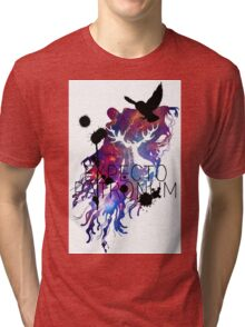 EXPECTO PATRONUM HEDWIG GALAXY 2 Tri-blend T-Shirt