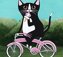 Ice Cream Bicycle Cat by Ryan Conners