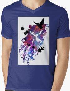 HARRY POTTER HEDWIG GALAXY Mens V-Neck T-Shirt