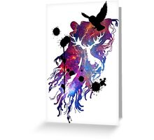 HARRY POTTER HEDWIG GALAXY Greeting Card