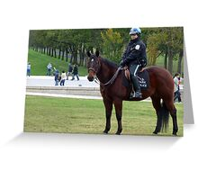 Park Police on Duty at the National Mall, Washington D.C. Greeting Card