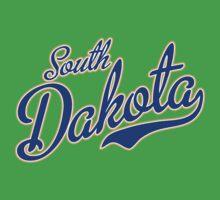 South Dakota Script Blue Kids Clothes