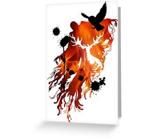 HARRY POTTER HEDWIG FIRE Greeting Card