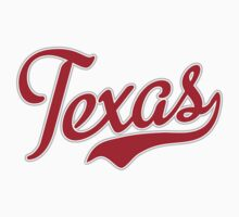 Texas Script Red by Carolina Swagger