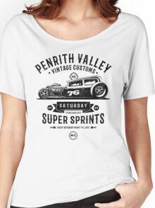 Vintage Customs Super Sprints [Black Mono] Women's Relaxed Fit T-Shirt