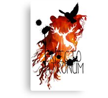 EXPECTO PATRONUM HEDWIG FIRE Canvas Print