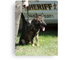 K-9 Officer on Duty Canvas Print