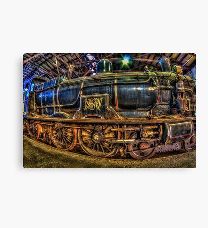 Historic Locomotives Canvas Print