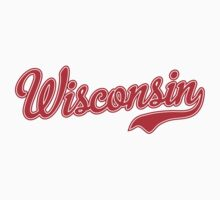 Wisconsin Script Red by Carolina Swagger