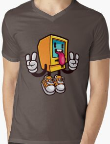 Computer Rock Mens V-Neck T-Shirt