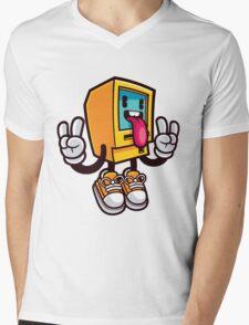 Computer Rock Mens V-Neck T-Shirt