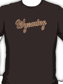Wyoming Script VINTAGE Brown T-Shirt