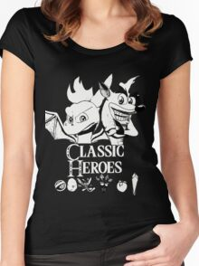 Classic Heroes Women's Fitted Scoop T-Shirt