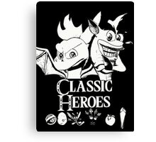 Classic Heroes Canvas Print