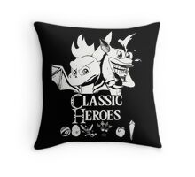 Classic Heroes Throw Pillow