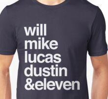 Stranger Things characters (dark background) Unisex T-Shirt