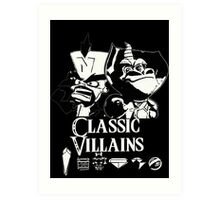 Classic Villains Art Print