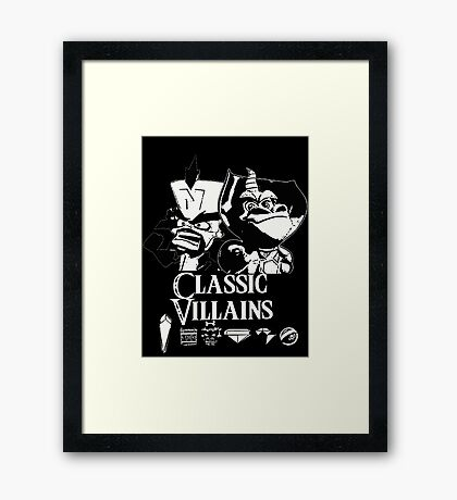 Classic Villains Framed Print