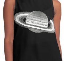 Saturn Planet Black Vast Darkness Rings  Contrast Tank