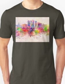 Fort Worth skyline in watercolor background Unisex T-Shirt