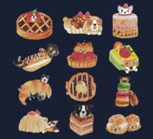 Puppy Pastries One Piece - Long Sleeve