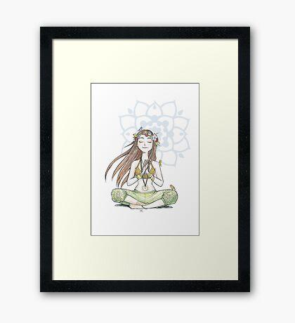 Yoga Mama Framed Print