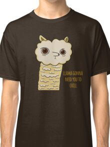 Llama need you to chill funny cartoon watercolor print Classic T-Shirt