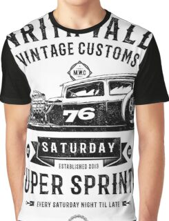 Vintage Customs Super Sprints [Black Mono] Graphic T-Shirt