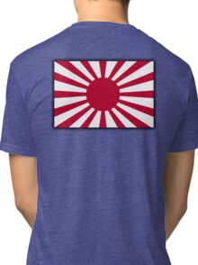 JAPAN, Imperial, Japanese, Army, War flag, WWII, Nippon, Kamikaze Tri-blend T-Shirt