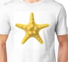 Yellow starfish, isolated on white background, closeup shot Unisex T-Shirt
