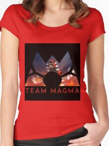 Pokemon Team Magma Women's Fitted Scoop T-Shirt