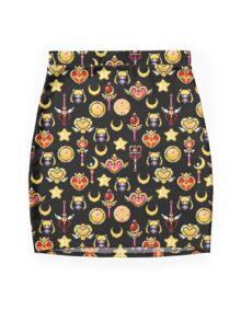 Sailor Moon - Black Mini Skirt