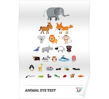 Animal Eye Test Poster