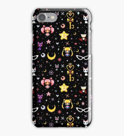 Sailor Moon family - Black iPhone Case/Skin