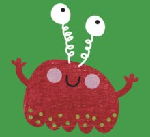 Red jelly monster chick One Piece - Short Sleeve