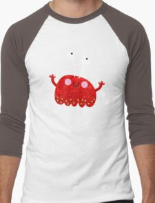 Red jelly monster chick Men's Baseball ¾ T-Shirt