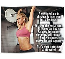 A Woman With A Fit Physique Poster