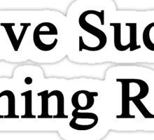 Love Sucks Running Rocks Sticker