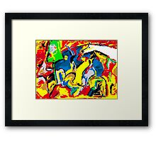 Cheval Blanc - Couleurs Framed Print