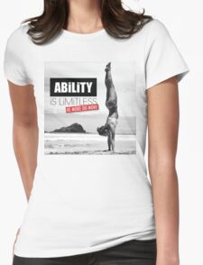 Ability Is Limitless (Women's Workout Motivation) Womens Fitted T-Shirt